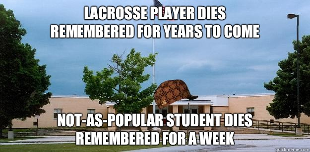 LACROSSE PLAYER DIES REMEMBERED FOR YEARS TO COME NOTASPOPUL - Scumbag School