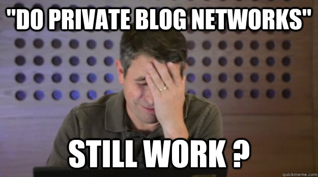 do private blog networks still work  - Facepalm Matt Cutts