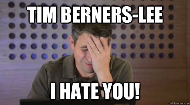 tim bernerslee i hate you - Facepalm Matt Cutts