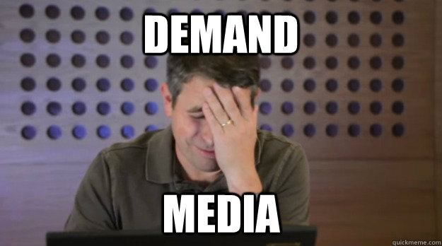 demand media - Facepalm Matt Cutts