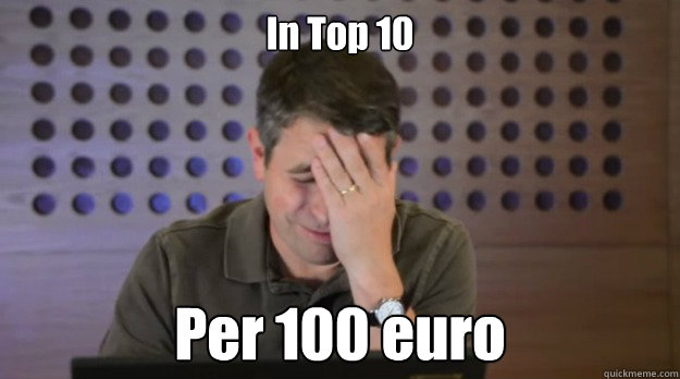 in top 10 per 100 euro - Facepalm Matt Cutts