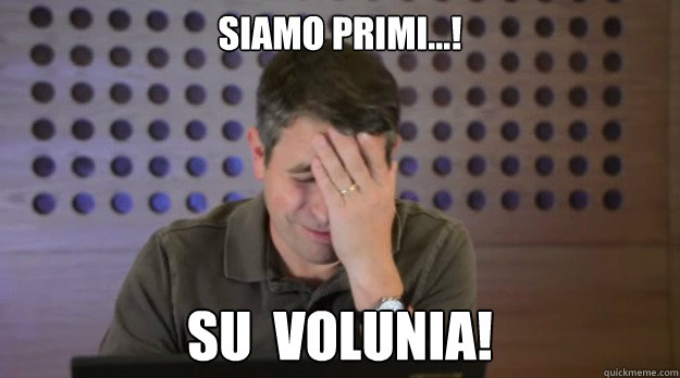 siamo primi su volunia - Facepalm Matt Cutts