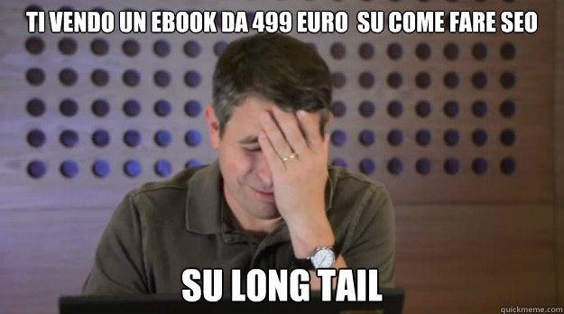 ti vendo un ebook da 499 euro su come fare seo su long tail - Facepalm Matt Cutts