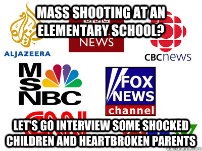 mass shooting at an elementary school lets go interview so - Scumbag News Stations
