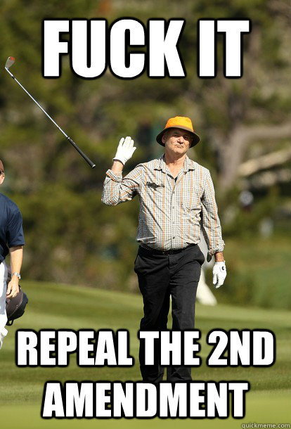fuck it repeal the 2nd amendment - fuck it bill murray