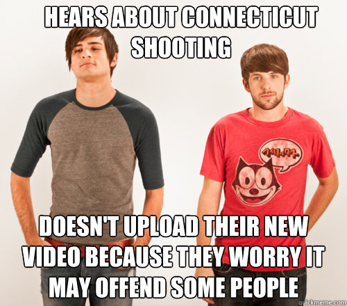 hears about connecticut shooting doesnt upload their new vi - SMOSHHHH