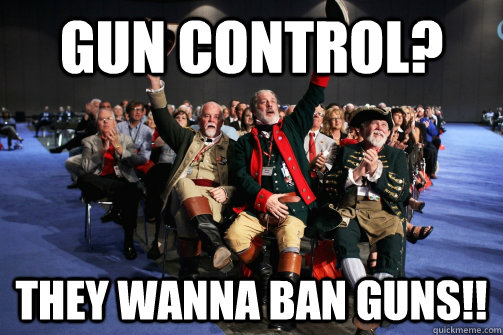 gun control they wanna ban guns - Angry Republican Audience