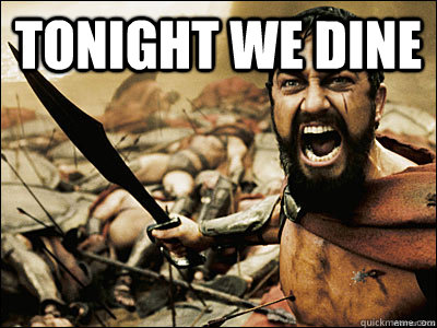 tonight we dine  - FALL300