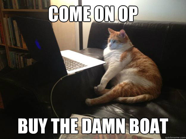 come on op buy the damn boat - vicarious cat