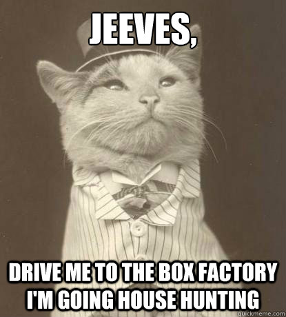 jeeves drive me to the box factory im going house hunting - Aristocat