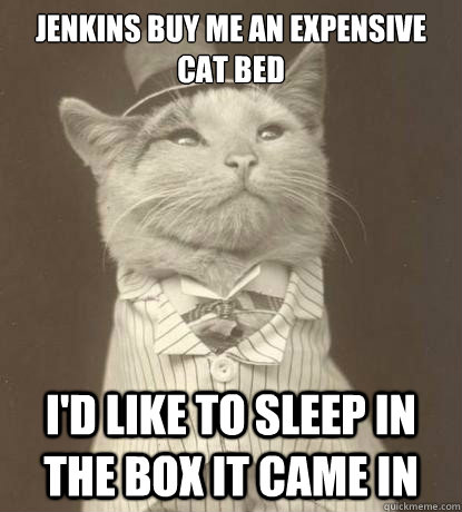 jenkins buy me an expensive cat bed id like to sleep in the - Aristocat
