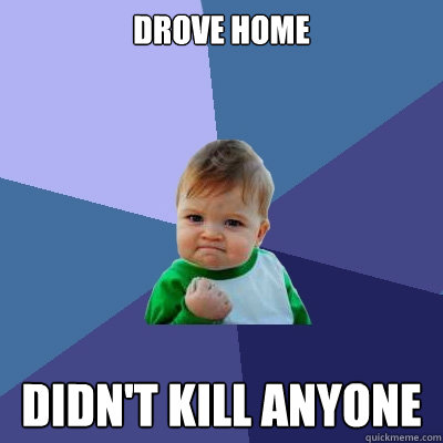 drove home didnt kill anyone - Success Kid