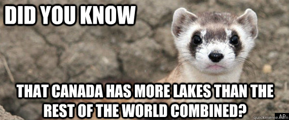 did you know that canada has more lakes than the rest of the - Fun-Fact-Ferret