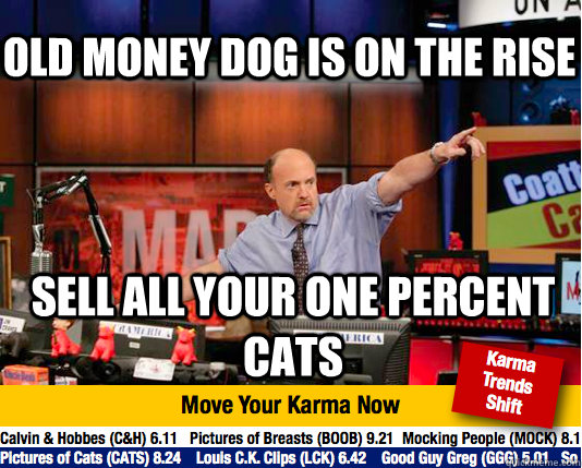 old money dog is on the rise sell all your one percent cats - Mad Karma with Jim Cramer