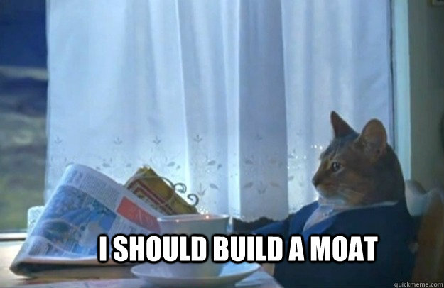i should build a moat - Sophisticated Cat
