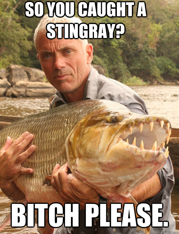 so you caught a stingray bitch please - Badass Jeremy Wade