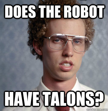 does the robot have talons - Ego Boost Napoleon