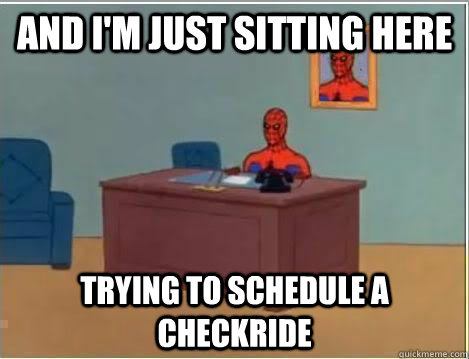 and im just sitting here trying to schedule a checkride - Amazing Spiderman