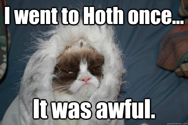 i went to hoth once it was awful - grumpy cat hoth