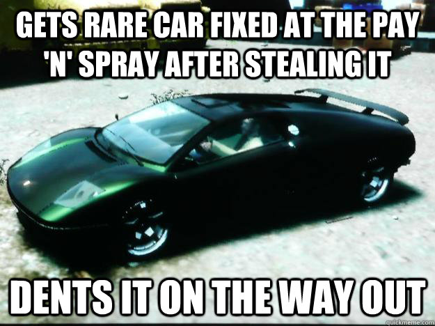 gets rare car fixed at the pay n spray after stealing it d - Scumbag GTA IV