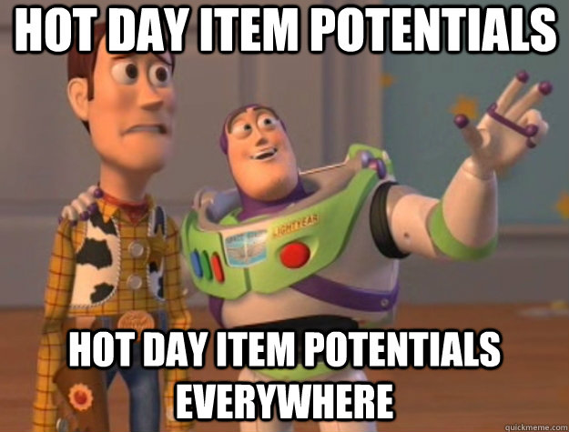 hot day item potentials hot day item potentials everywhere  - Toy Story