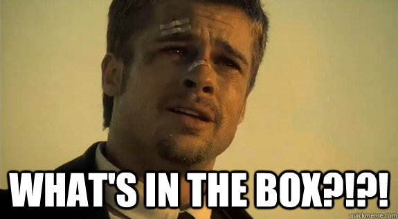 whats in the box - Brad Pitt- Whats in the box