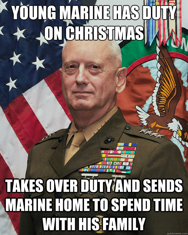 young marine has duty on christmas takes over duty and sends - Good Guy General