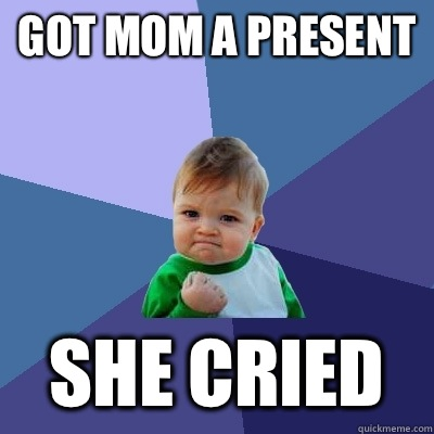 Got mom a present She cried - Success Kid
