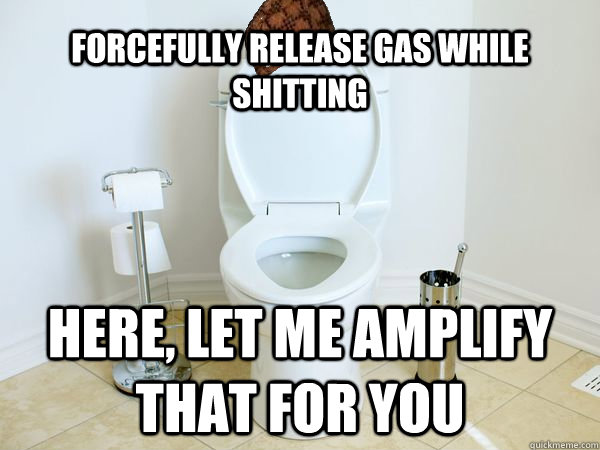 forcefully release gas while shitting here let me amplify t - Scumbag Toilet