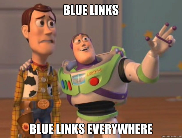 blue links blue links everywhere - Buzz Lightyear