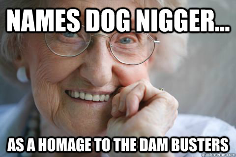 names dog nigger as a homage to the dam busters - Misunderstood Granny