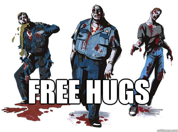 free hugs - Misunderstood Zombies