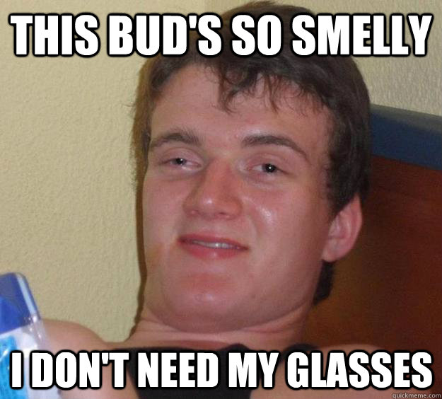 this buds so smelly i dont need my glasses - 10 Guy