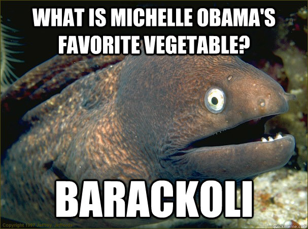 what is michelle obamas favorite vegetable barackoli  - Bad Joke Eel