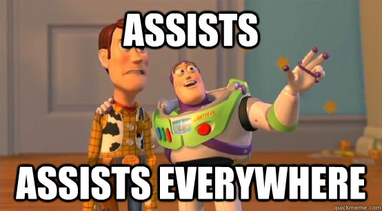 assists assists everywhere - Buzz Glitter