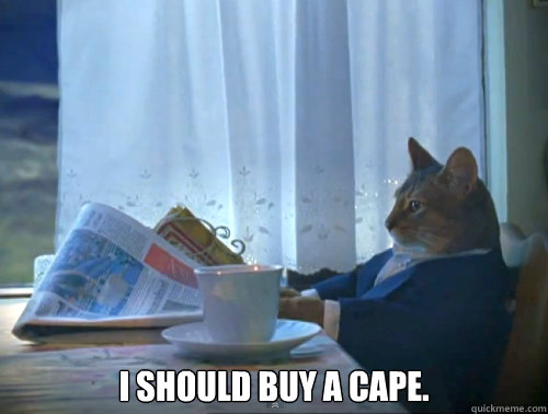 i should buy a cape - The One Percent Cat