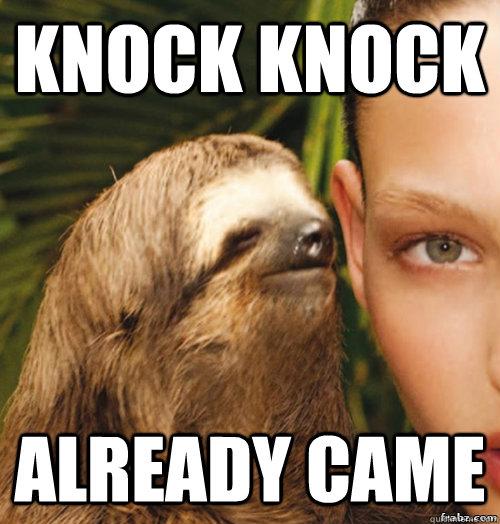 rape sloth meme jalapeno - photo #1