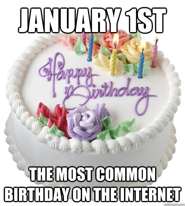 january 1st the most common birthday on the internet - 
