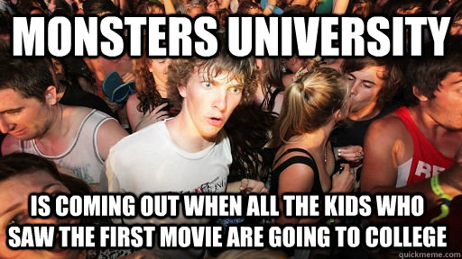 monsters university is coming out when all the kids who saw  - Sudden Clarity Clarence