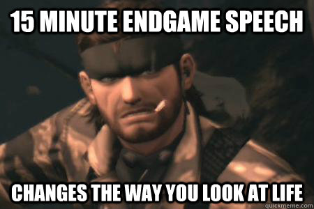 15 minute endgame speech changes the way you look at life - GOOD GUY SNAKE