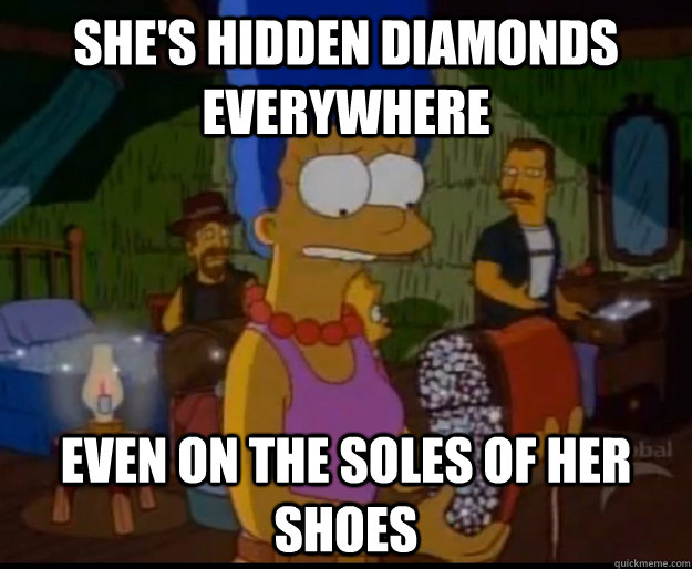 shes hidden diamonds everywhere even on the soles of her sh -