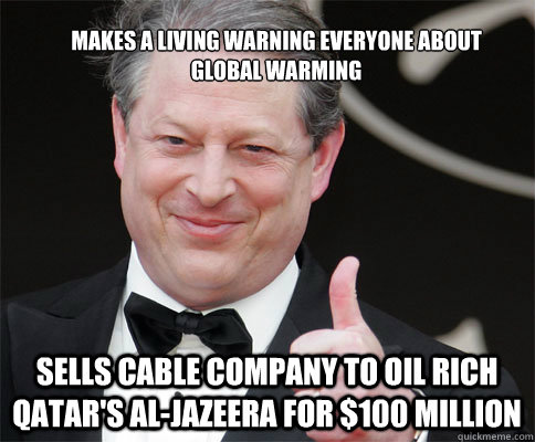 makes a living warning everyone about global warming sells c - PRIZE AL GORE