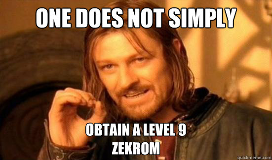 one does not simply obtain a level 9 zekrom - Boromir