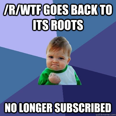 rwtf goes back to its roots no longer subscribed - Success Kid