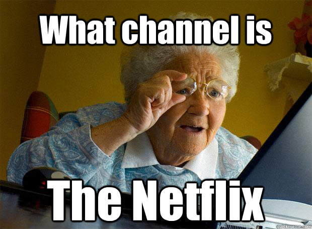 what channel is the netflix caption 5 goes here - Grandma finds the Internet