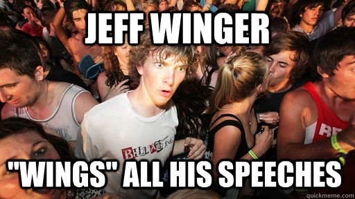 jeff winger wings all his speeches - Sudden Clarity Clarence