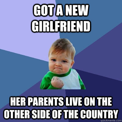 got a new girlfriend her parents live on the other side of t - Success Kid