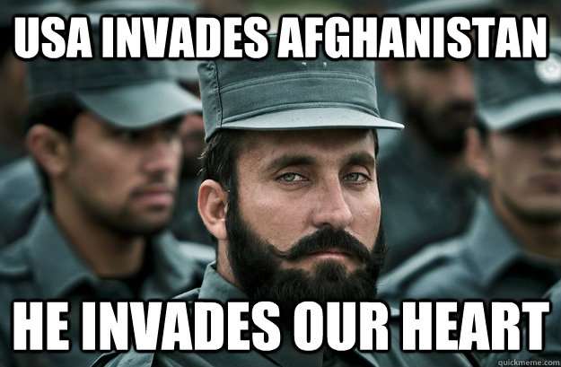 usa invades afghanistan he invades our heart - Incredibly Photogenic Afghan Officer
