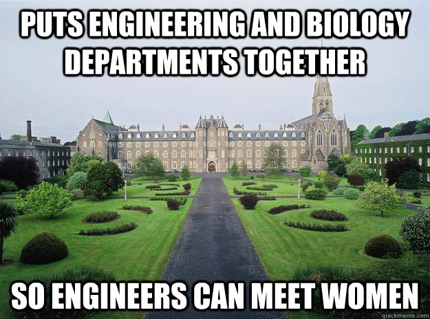 puts engineering and biology departments together so enginee -