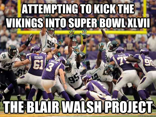 attempting to kick the vikings into super bowl xlvii the bla -
